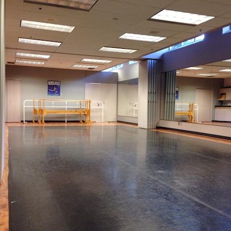 Milne Studio at Dance Victoria Studios on Quadra Street, near Quadra Village, Victoria, BC