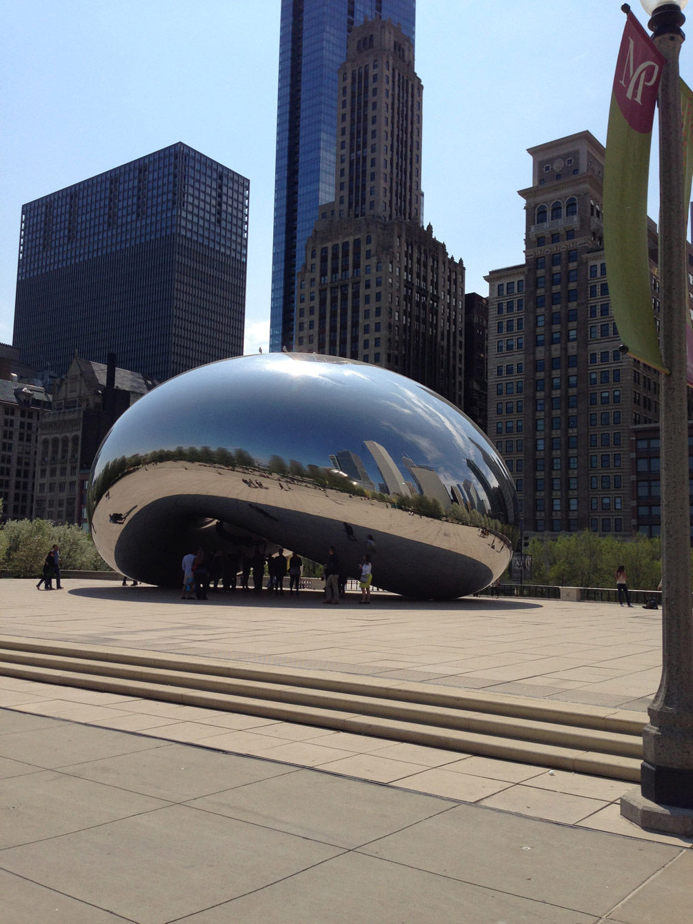 Go stand under the bean, and you'll see multiple reflections of yourself.