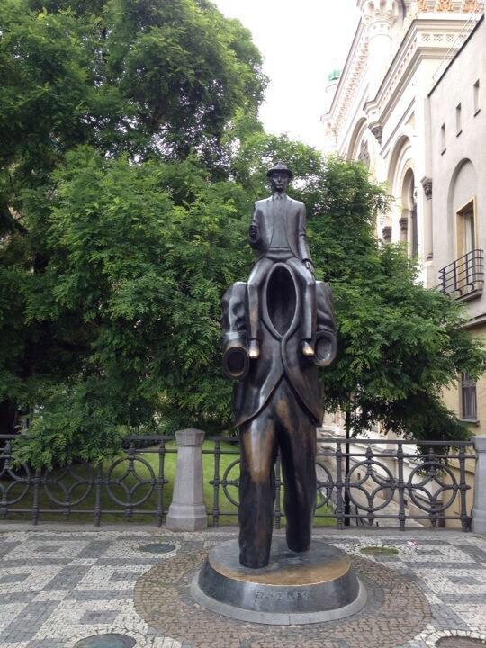 A statue honouring Franz Kafka. Photo by Philomena Hanson of Victoria Arts Marketing
