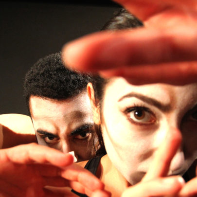 Out Innerspace Dance Theatre Artists Arash Khakpour and Renée Sigouin. Photo © David Raymond