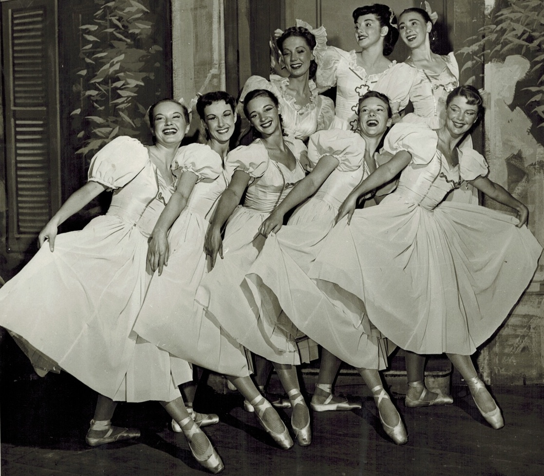 Pat Sparks Taylor (third from left) in Theatre Under the Stars c.1949. Photo: Artray Photographers Ltd.