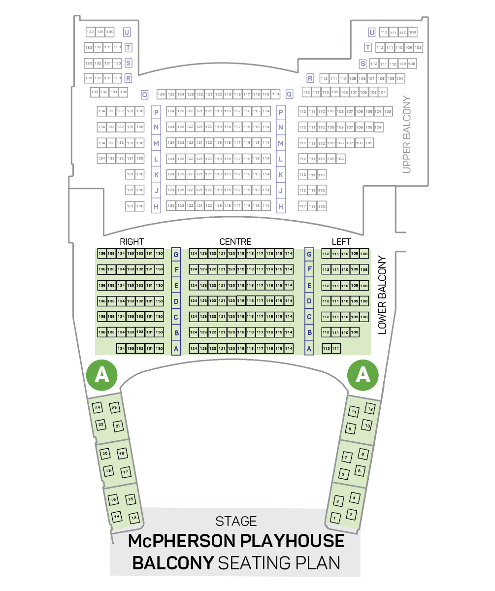 Dancers of Damelahamid Seating Plan - Balcony