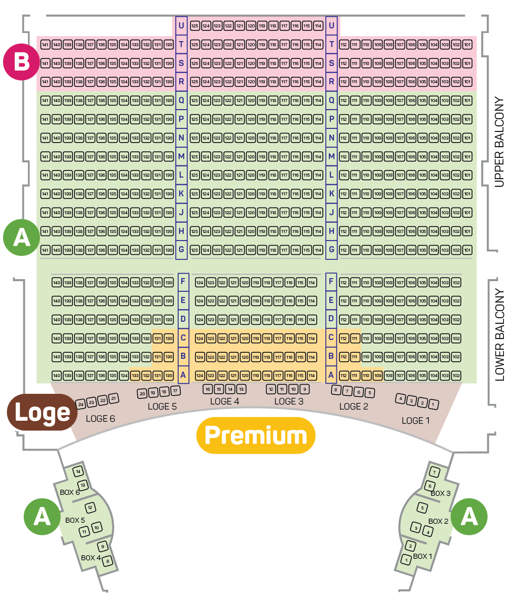 Alvin Ailey Royal Theatre Seating Plan - Balcony