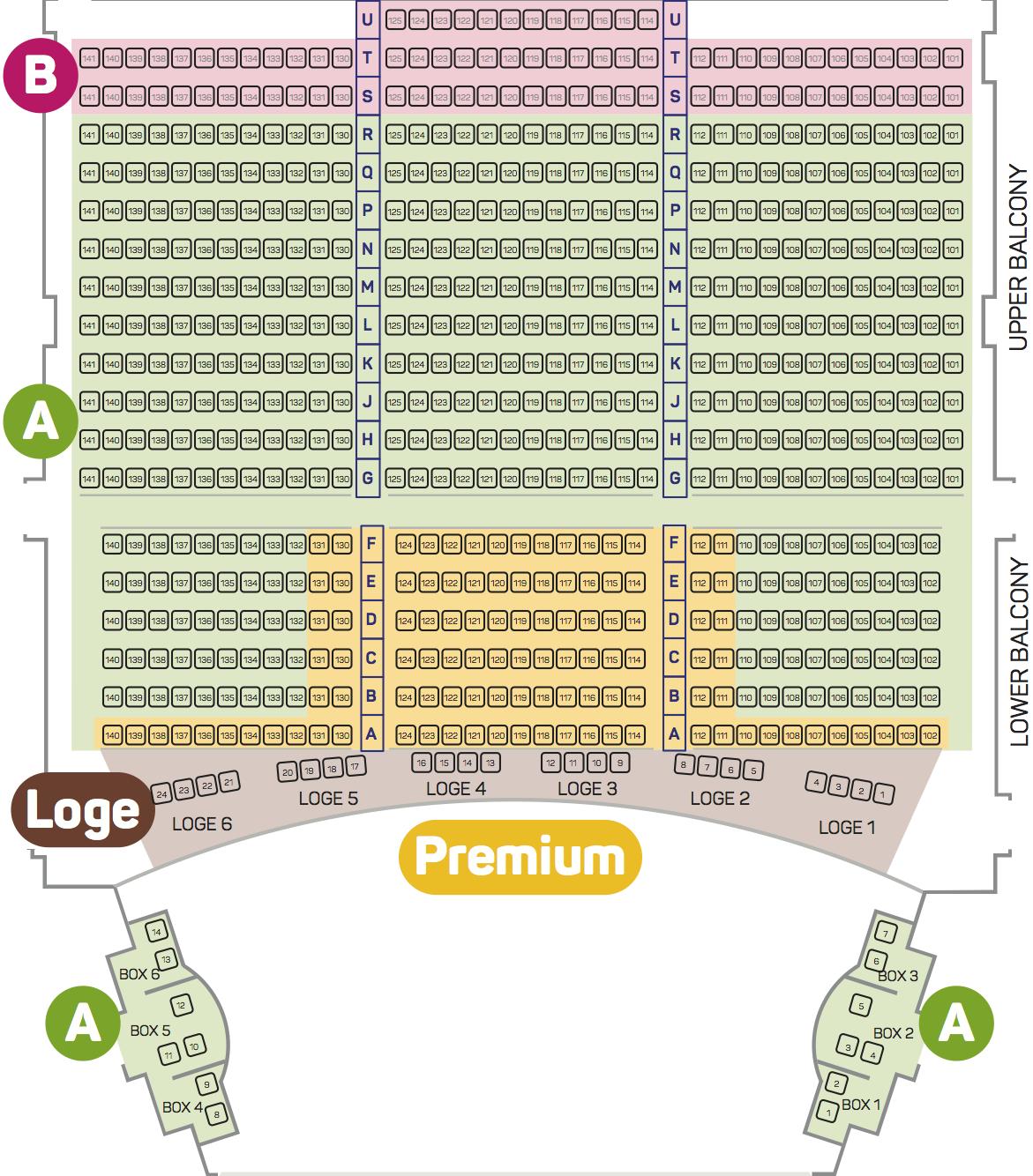 Nutcracker Seating Plan 2018 - Balcony
