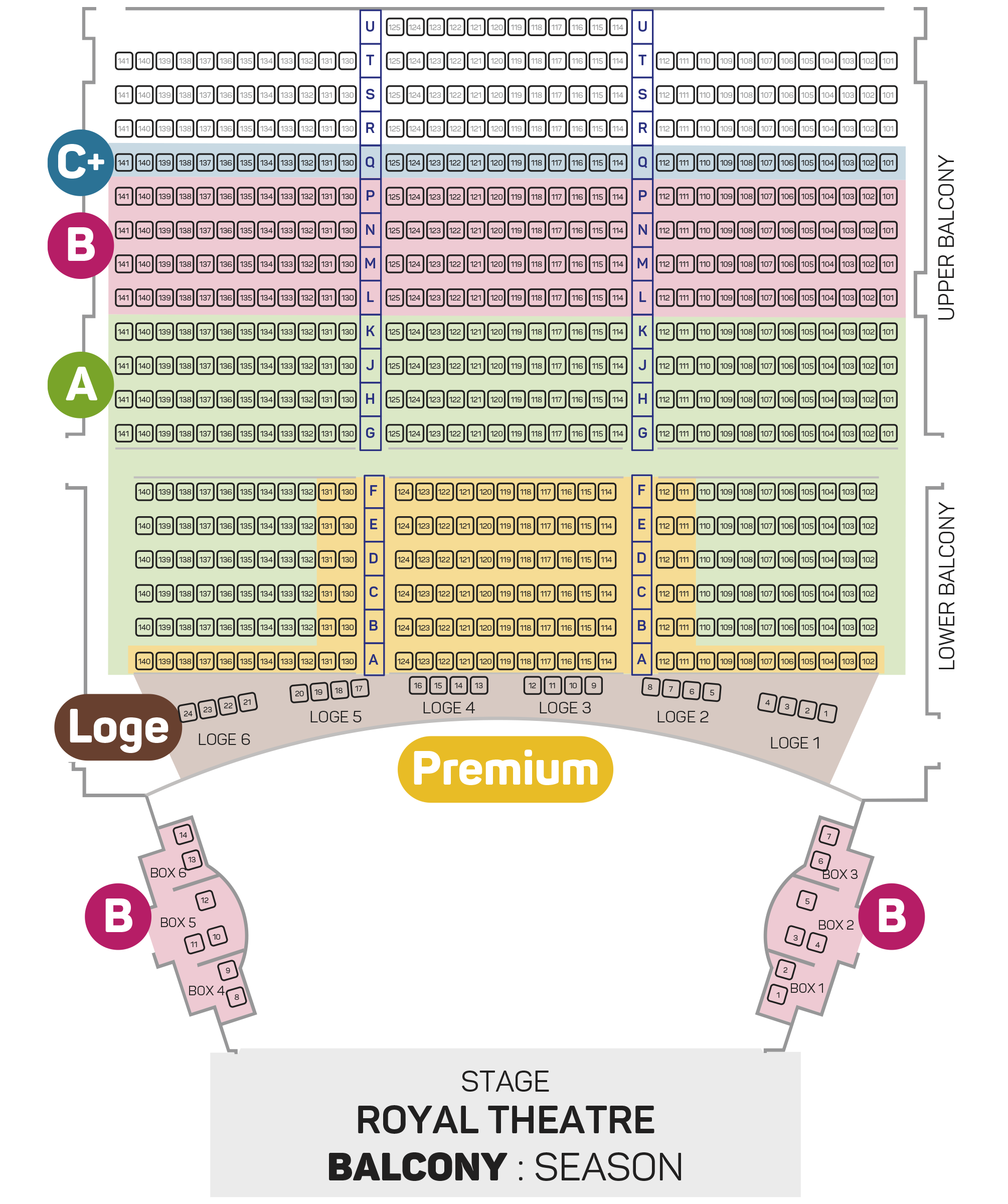 Seating Plan (Royal Subscription)