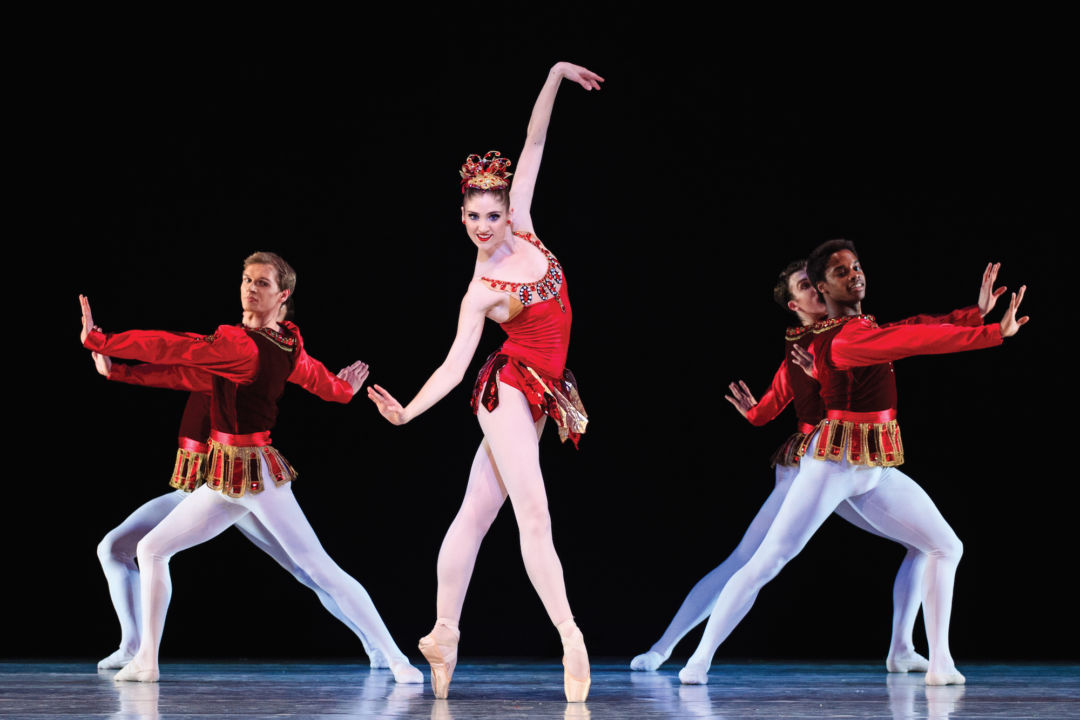 Ballet West in Rubies. Dancer: Emily Adams. Photo: Luke Isley