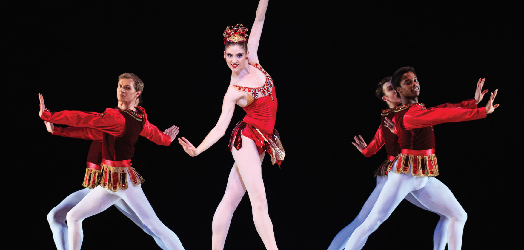 Ballet West in Rubies. Dancer: Emily Adams. Photo: Luke Isley