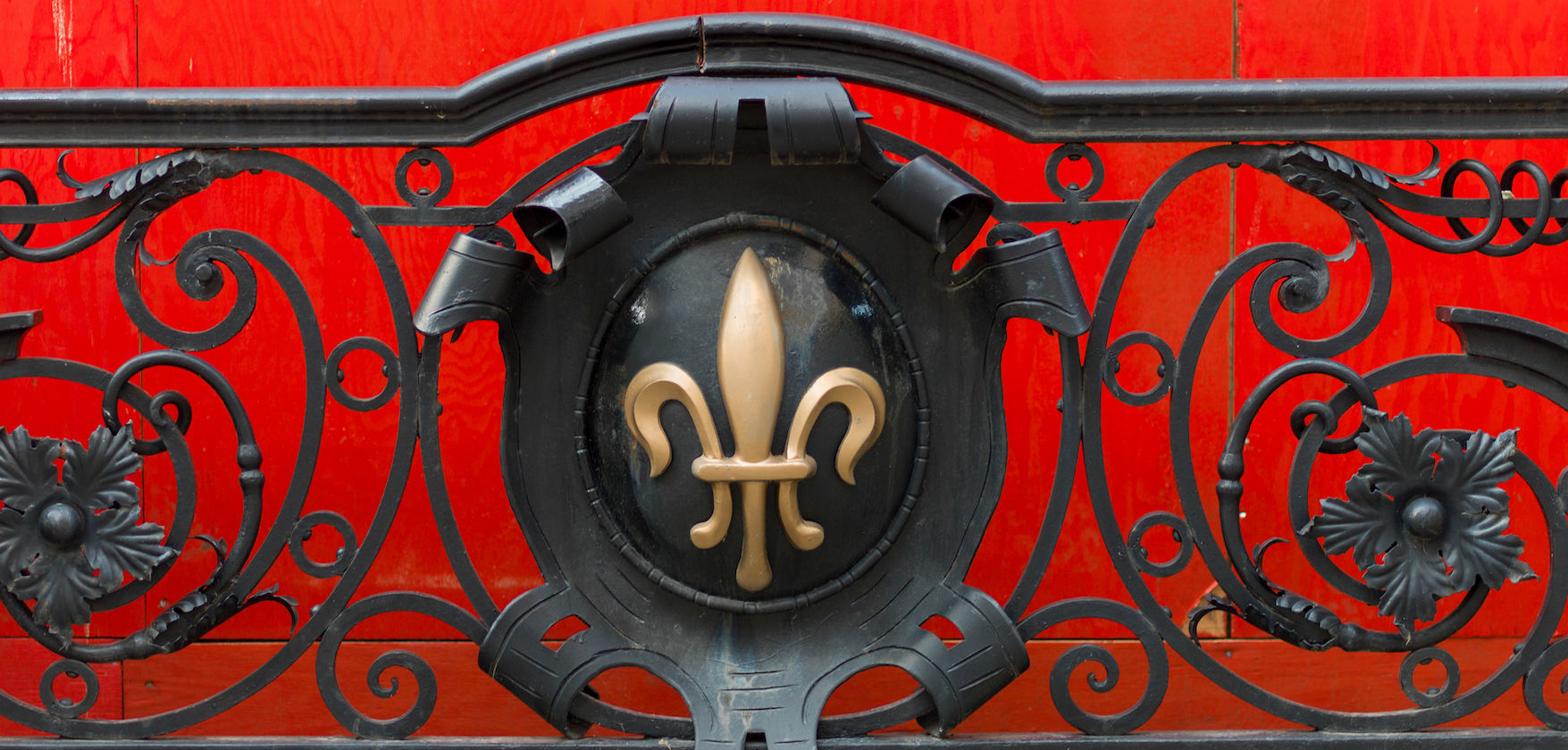 Fleur de Lis on a railing at Golden Square Mile, Montreal, Quebec, Canada