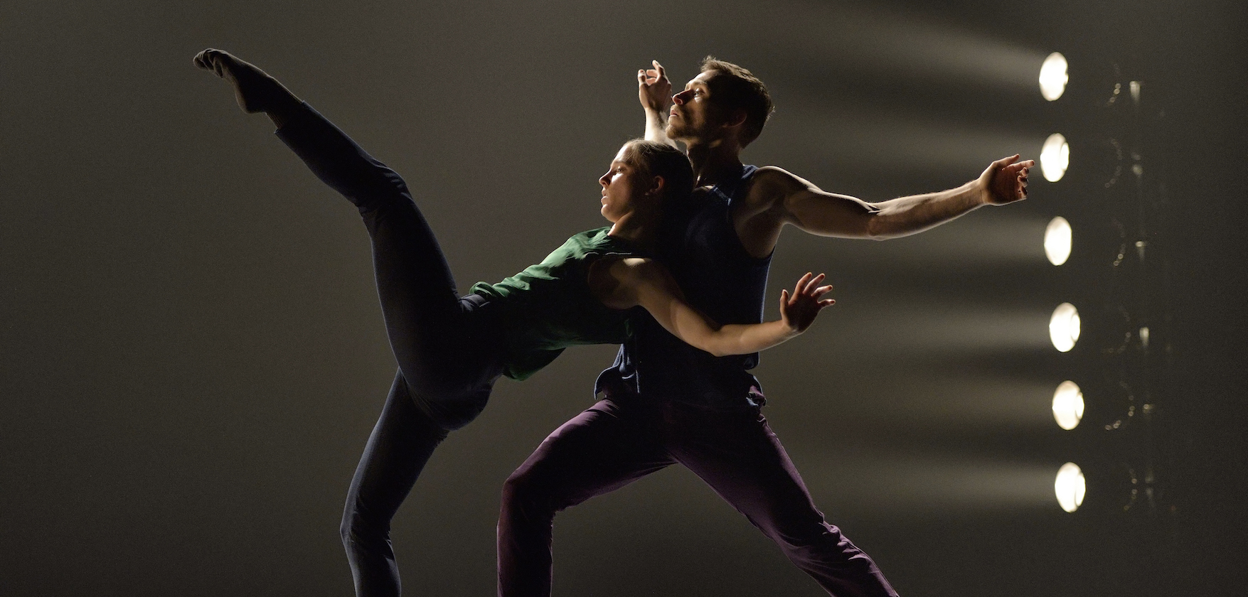 Ballet BC Dancers Anna Bekirova and Brandon Alley in To This Day. Photo: Michael Slobodian