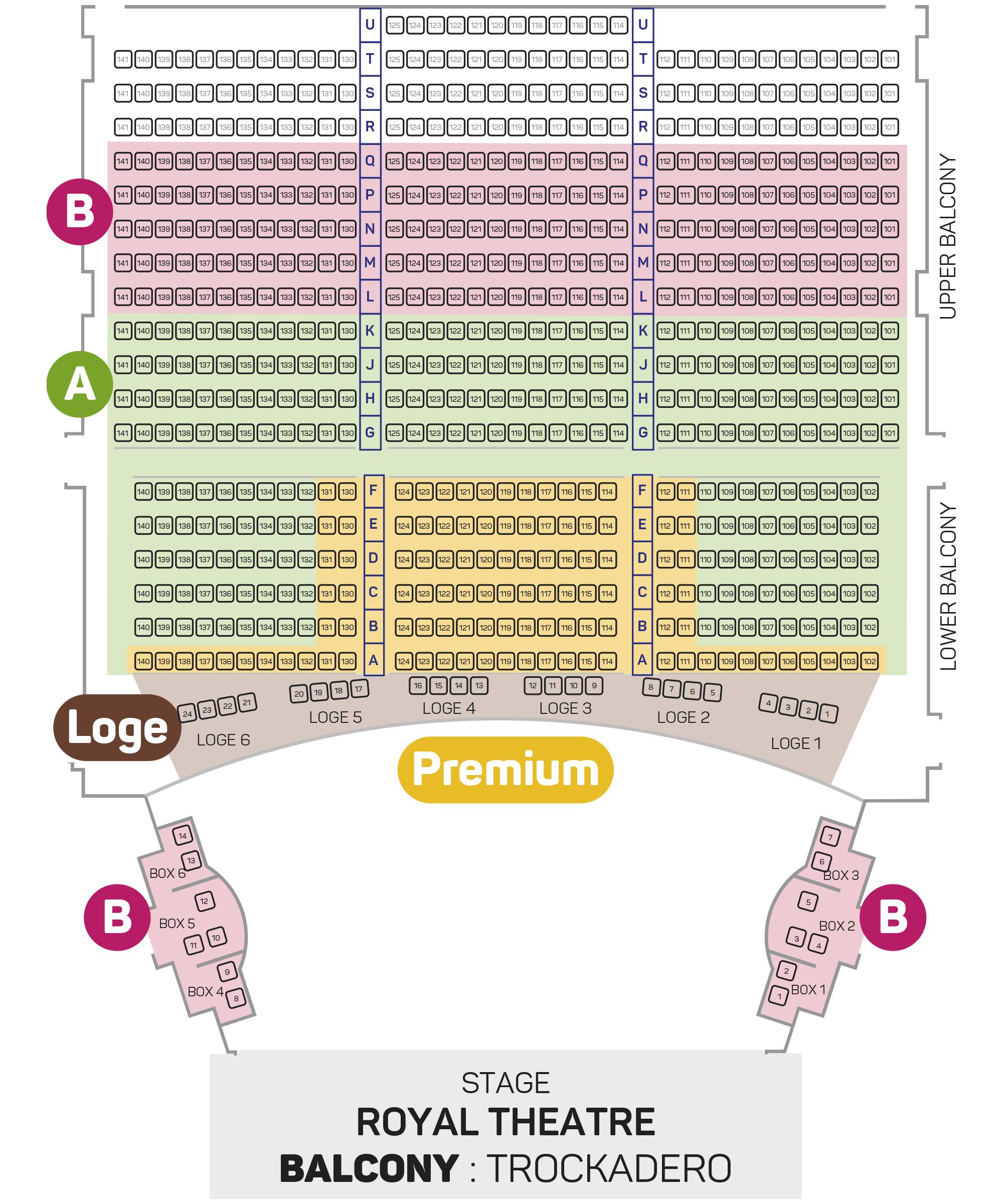 Les Ballets Trockadero Seating Plan - Balcony