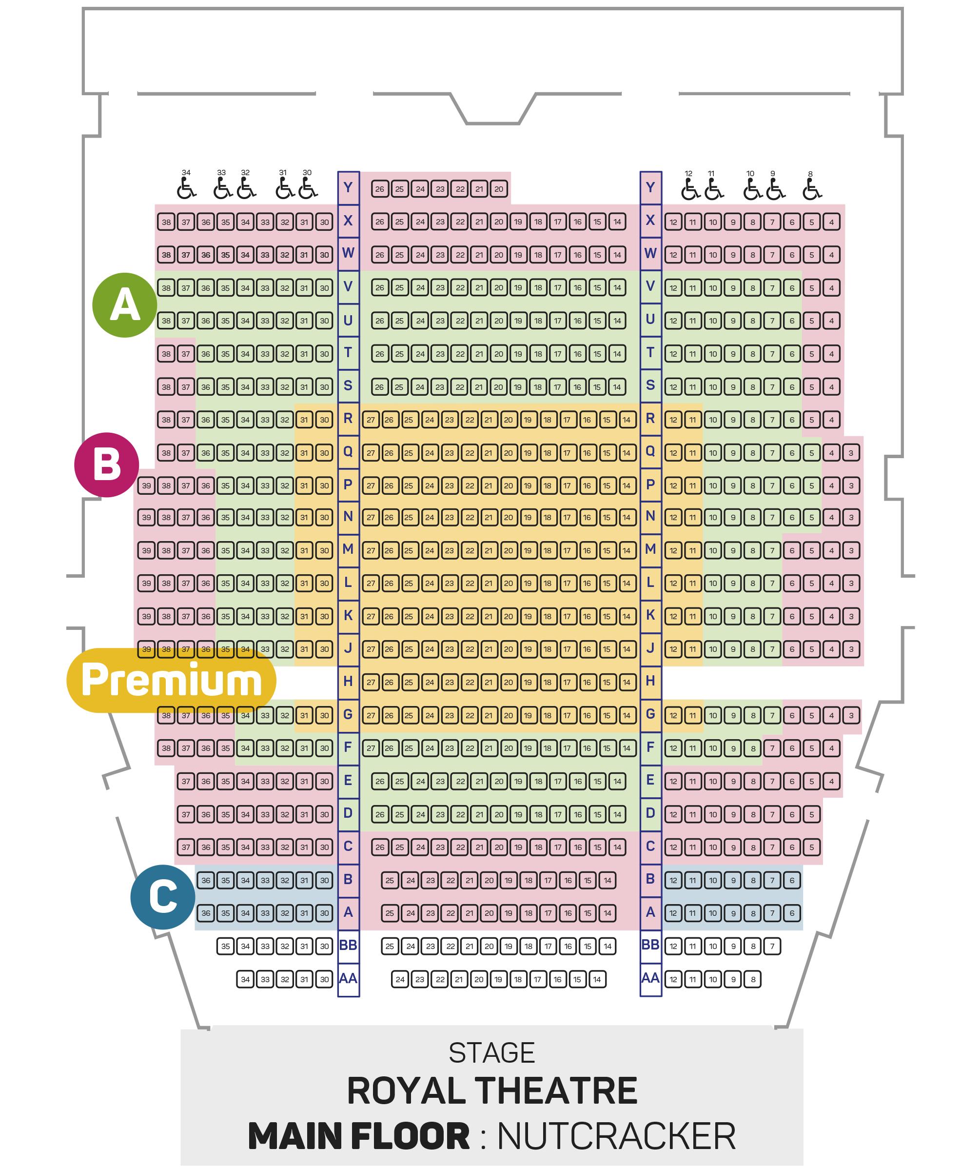 Nutcracker Seating Plan - Main Floor