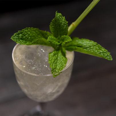 "Cascadia Liquor's ""Mint Tea Smash"" cocktail demo for Compagnie Hervé Koubi"
